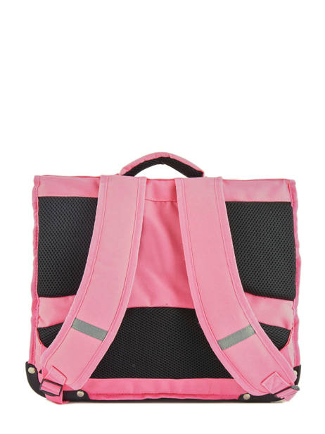 Cartable 2 Compartiments Réversible Pol fox Rose fille F-CA38R vue secondaire 4