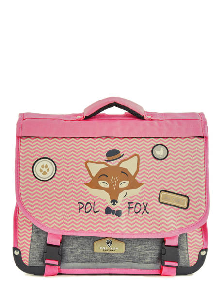 Cartable 2 Compartiments Réversible Pol fox Rose fille F-CA38R