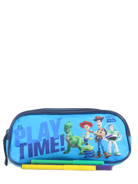 Pennenzak 2 Compartimenten Toy story Blauw playtime TOYNI00 ander zicht 1