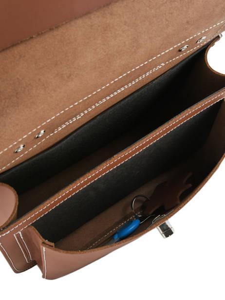 Boekentas 1 Compartiment Own stuff Bruin satchel OS013 ander zicht 5