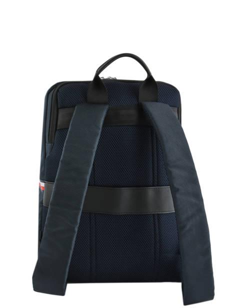 Sac à Dos Business 1 Compartiment + Pc 14'' Tommy hilfiger Bleu nylon mix AM04764 vue secondaire 3