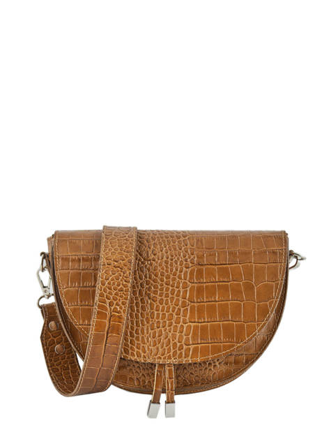 Cross Body Tas Croco Leder Milano Bruin croco CR19062