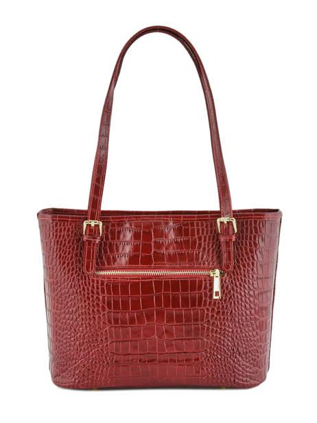 Shoppingtas Croco Leder Milano Rood croco CR15013 ander zicht 2