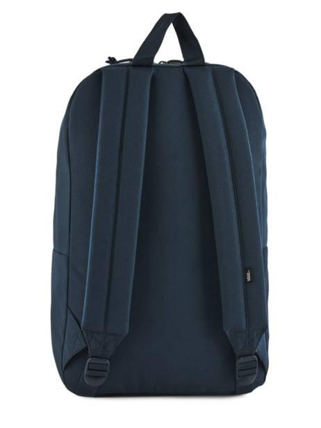Sac A Dos 1 Compartiment + Pc 15'' Vans Bleu backpack men VN0A3HCB vue secondaire 3