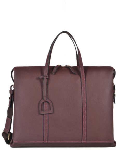Porte-documents Tradition Cuir Etrier Violet tradition EHER81