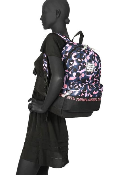 Sac à Dos 1 Compartiment Superdry Multicolore backpack woomen W9100016 vue secondaire 2