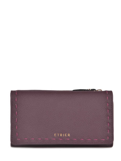Portefeuille Tradition Cuir Etrier Violet tradition EHER95