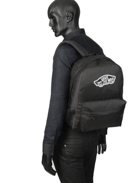 Rugzak 1 Compartiment + Pc 15'' Vans Zwart backpack men VN0A3UI6 ander zicht 2