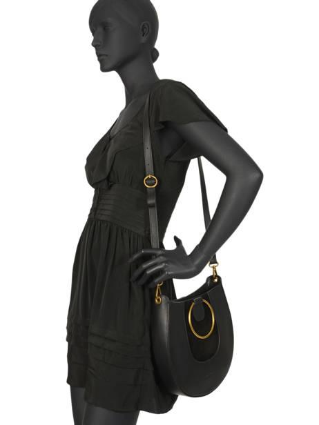 Sac Bandoulière Brooke Cuir Nat et nin Noir vintage BROOKE vue secondaire 2