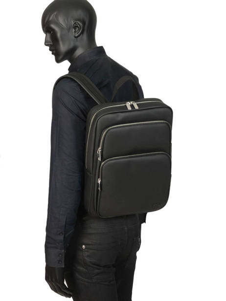 Sac à Dos 1 Compartiment + Pc 15'' Lacoste Noir men's classic NH2852HC vue secondaire 2