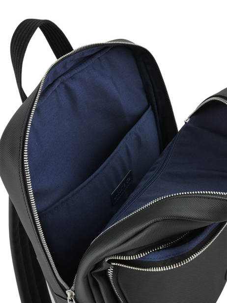Sac à Dos 1 Compartiment + Pc 15'' Lacoste Noir men's classic NH2852HC vue secondaire 4