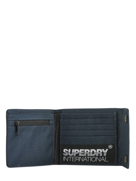 Portefeuille Superdry Bleu accessories men M9800006 vue secondaire 1