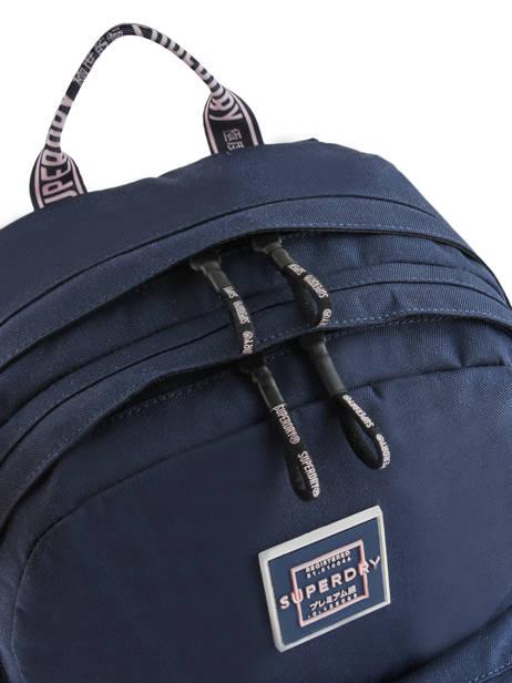Sac à Dos 2 Compartiments Superdry Bleu backpack woomen W9100005 vue secondaire 1