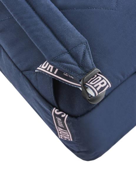 Sac à Dos 2 Compartiments Superdry Bleu backpack woomen W9100005 vue secondaire 2