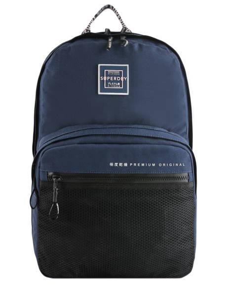 Sac à Dos 2 Compartiments Superdry Bleu backpack woomen W9100005