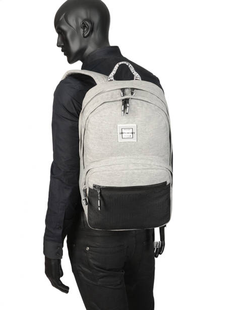 Sac à Dos 2 Compartiments Superdry Gris backpack woomen W9100005 vue secondaire 3