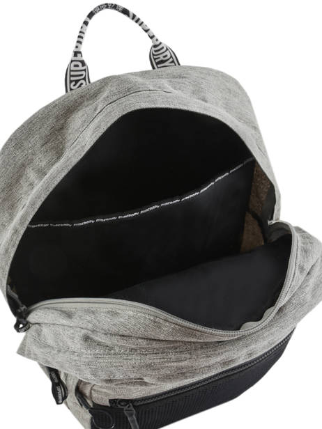 Sac à Dos 2 Compartiments Superdry Gris backpack woomen W9100005 vue secondaire 6