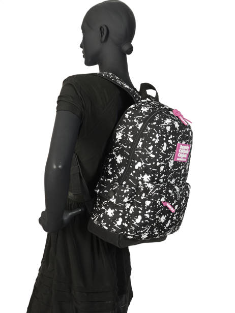 Sac à Dos 1 Compartiment Superdry Noir backpack woomen W9100014 vue secondaire 3