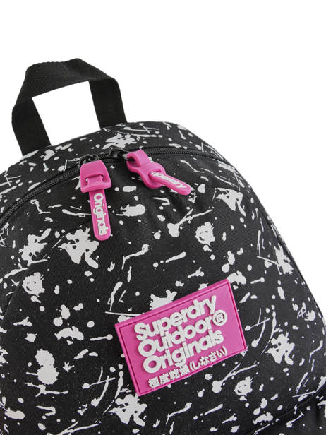 Sac à Dos 1 Compartiment Superdry Noir backpack woomen W9100014 vue secondaire 2