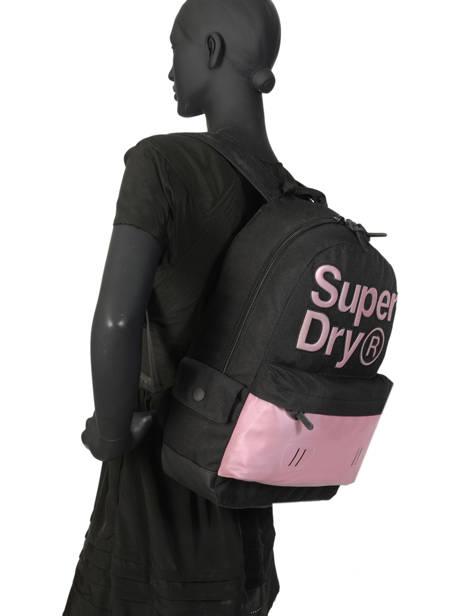 Sac à Dos 1 Compartiment Superdry Violet backpack woomen W9100015 vue secondaire 3