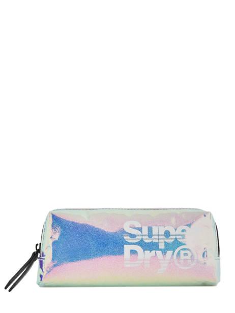Trousse 1 Compartiment Superdry Bleu accessories woomen W9800001