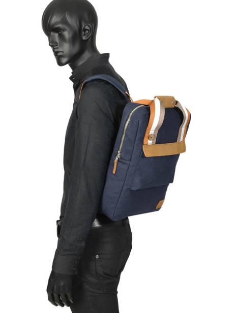 Sac à Dos Urban Bag Cotton Faguo Bleu cotton 19LU0149 vue secondaire 3