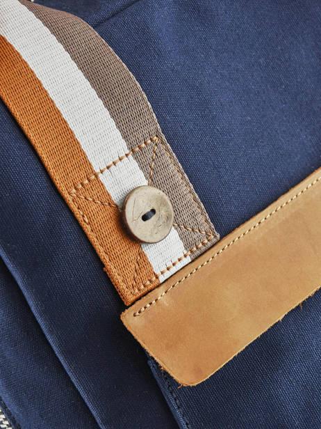 Sac à Dos Urban Bag Cotton Faguo Bleu cotton 19LU0149 vue secondaire 1