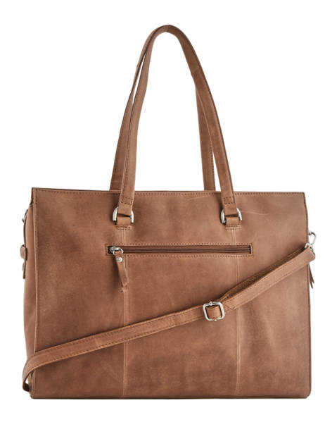 Sac Shopping L About Ally Cuir Burkely Marron about ally 545029 vue secondaire 3