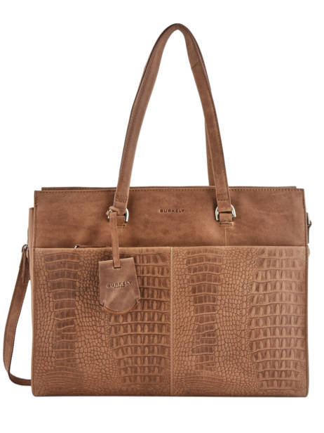 Sac Shopping L About Ally Cuir Burkely Marron about ally 545029
