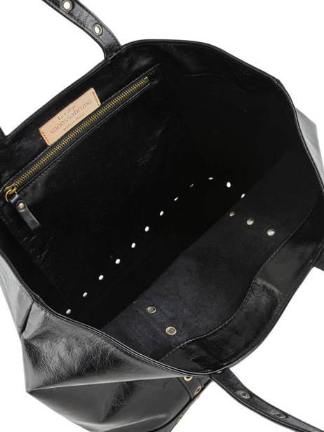 Handtas Le Cabas Gekreukeld Leder Vanessa bruno Zwart cabas cuir 82V40414 ander zicht 3