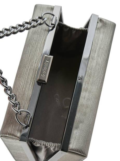 Box Clutch Met Schouderriem Miniprix Zilver case L86003-1 ander zicht 3