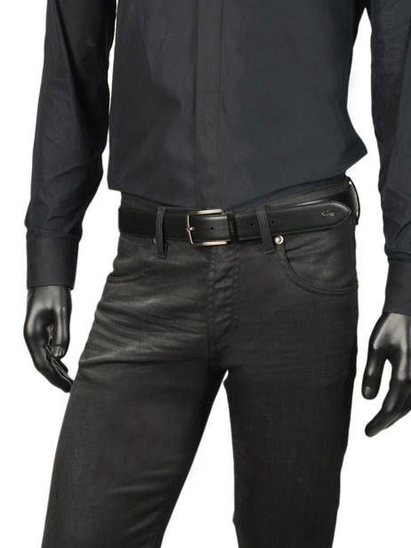 Ceinture Homme Cuir Lacoste Noir belt RC4002 vue secondaire 1