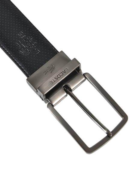 Ceinture Homme Cuir Lacoste Noir belt RC4002 vue secondaire 2