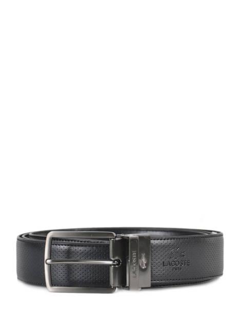 Ceinture Homme Cuir Lacoste Noir belt RC4002
