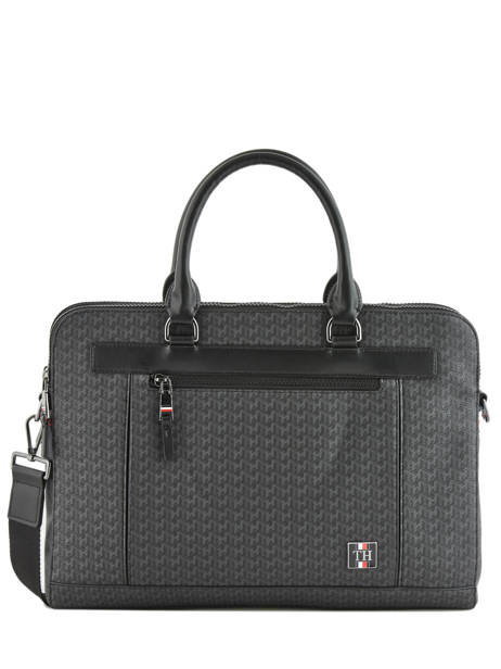 Porte-documents Coated Canvas Tommy hilfiger Noir coated canvas AM05036