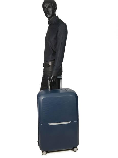 Valise Rigide Magnum Samsonite Bleu magnum CK6003 vue secondaire 3