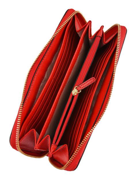 Portefeuille Jet Set Travel Cuir Michael kors Rouge money pieces H9GTVZ3L vue secondaire 1