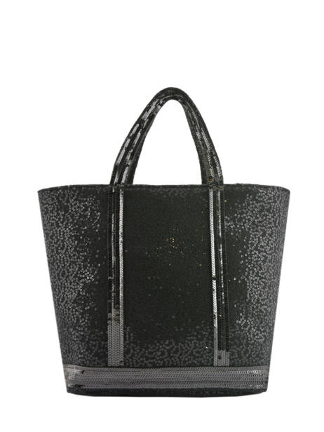 Le Cabas Moyen Tweed Paillettes Vanessa bruno Noir cabas 11V40413