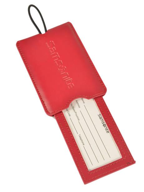 Adreslabel Samsonite Rood accessoires C01102 ander zicht 1