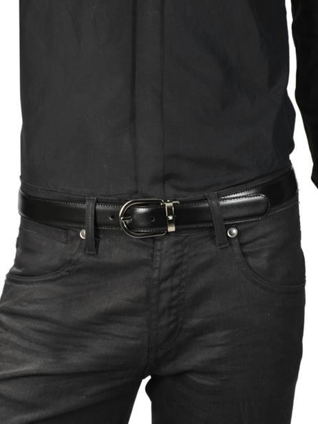 Verstelbare Herenriem Leder Montblanc Zwart belts 38157 ander zicht 2