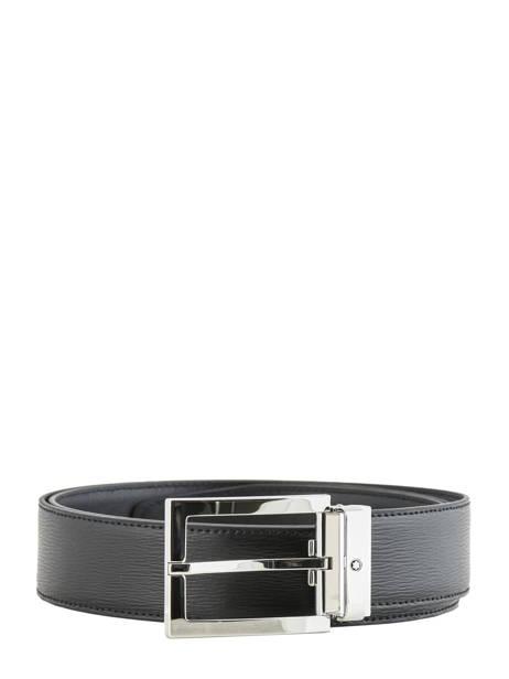 Ceinture Homme Réglable Cuir Montblanc Noir belts 114435