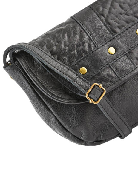 Cross Body Tas Nelli Leder Pieces Zwart nelli 17102053 ander zicht 1