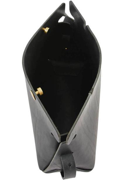 Cross Body Tas N°12 Le Petit Pincé Leder Archipel Zwart numero N12 ander zicht 4