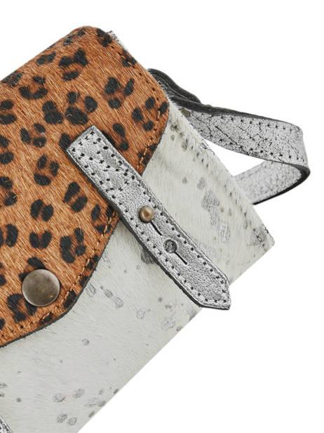 Cross Body Tas Mini Leopard Leder Paul marius Zilver leopard MINILEO ander zicht 1