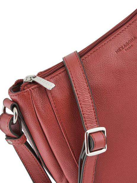 Sac Bandoulière Confort Cuir Hexagona Rouge confort 466743 vue secondaire 1