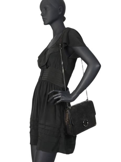 Cross Body Tas Velvet Milano Zwart velvet VP180602 ander zicht 1