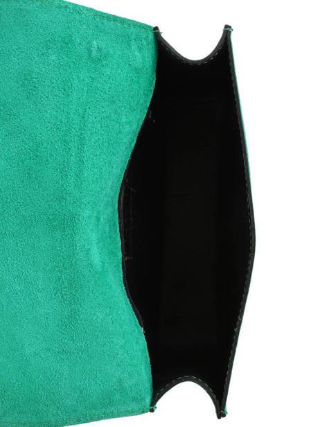 Sac Bandoulière Velvet Milano Vert velvet VE17111 vue secondaire 4