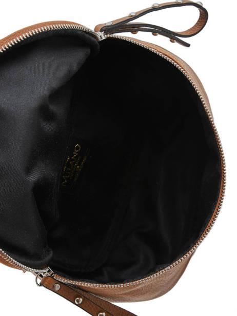 Sac Porté épaule Caviar Cuir Milano Marron caviar CA19115 vue secondaire 4