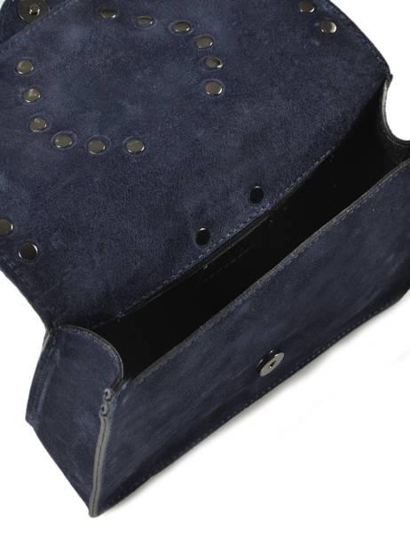 Cross Body Tas S Velvet Leder Milano Blauw velvet VR17111 ander zicht 3