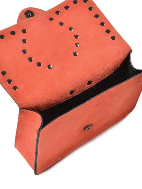 Sac Bandoulière M Velvet Cuir Milano Orange velvet VR180602 vue secondaire 3